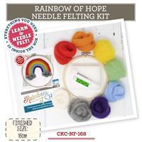 The Crafty Kit Company Rainbow of Hope Needle Felting Kit