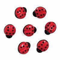 Ladybird Buttons Pack of 7