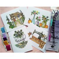 Tatting and Design Country Home Needle Tatting Greetings Cards Kit