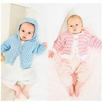 Stylecraft Naturals Bamboo and Cotton Baby Hooded Cardigan Pattern