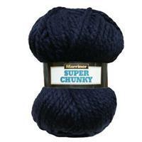 Marriner Navy Super Chunky Yarn 100g