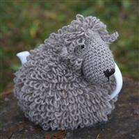 Woolly Chic Grey Sheep Crochet Tea Cosy Kit