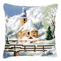 Alpine Scene Needlepoint Cushion Kit