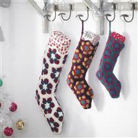 Christmas African Flower Stockings Set of Three Crochet Kit