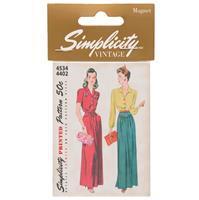 Simplicity Vintage Magnet 4534/4402 Pattern
