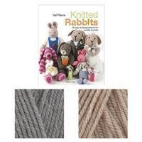 Knitted Rabbits Book by Val Pierce: with 2x100g of DK Yarn FREE