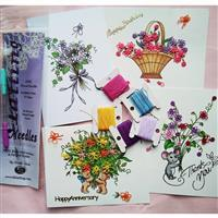 Tatting and Design Sweet Bouquets Needle Tatting Greetings Cards Kit