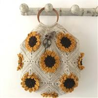 Adventures in Crafting Acorn Field of Sunflowers Granny Square Bag  Kit