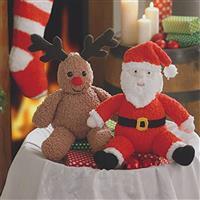 Santa and Rudolph Toys Knitting Kit