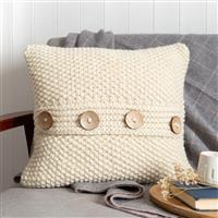 Wool Couture Cream Seed Stitch Cushion Knitting Kit