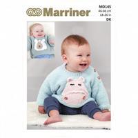 Marriner Hippo & Polar Bear Motif Baby Jumper Knitting Pattern