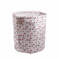 Rose Spot Design Fabric and Yarn Storage Bucket