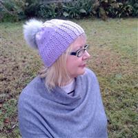 Anniken Allis Warm Grey Beaded Linnea Hat Kit