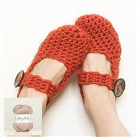 Wool Couture Mink Amy Slippers Kit