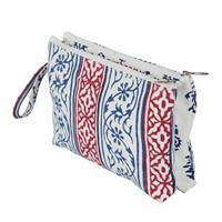 Radiance Fabric Double Zipped Pouch - Small