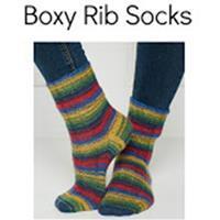 Winwick Mum Boxy Rib Sock pattern