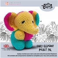 Knitty Critters Pocket Pals Emily Elephant Kit