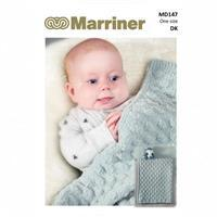 Marriner Bobble Edge & Cob Nut Baby Blanket Knitting Pattern