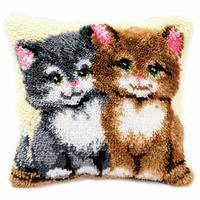 Kittens Latch Hook Cushion Kit