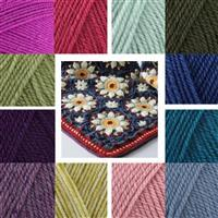 Jane Crowfoot Blue/Pink Summer Palace Crochet Blanket Kit