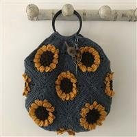 Adventures in Crafting Sky Field of Sunflowers Granny Square Bag Kit
