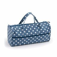 Knitting Bag Denim Polka Dot