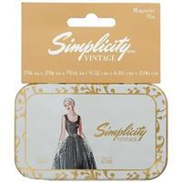 Simplicity Vintage Hinged Magnetic Tin Notions Pattern