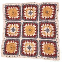 The Crafty Co Autumn Rose Crochet Cushion Kit