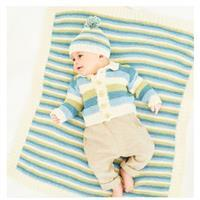 Stylecraft Naturals Bamboo and Cotton Baby Jacket, Hat and Blanket Pattern