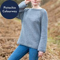 Wool Couture Pistachio Eve Jumper Knitting Kit: Small/Medium