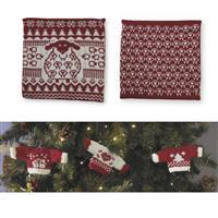 We Wish Ewe A Merry Christmas Cushion & Mini Sweaters Knitting Kit