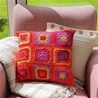 Woolly Chic Tutti Frutti Granny Square & Stripe Cushion Kit