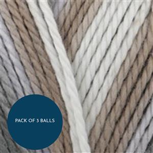 King Cole Shell Cottonsoft Crush DK 100g: Pack of 3 Balls