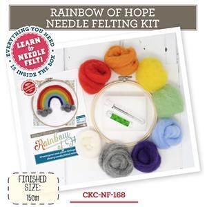 The Crafty Kit Company Rainbow of Hope Needle Felting Kit