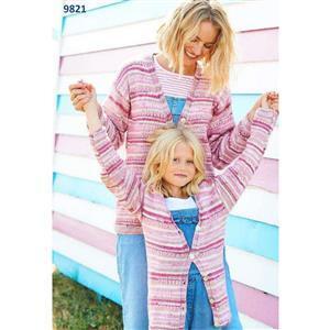 Stylecraft You & Me Sophia Pinks Child's Cardigan or Sweater Kit