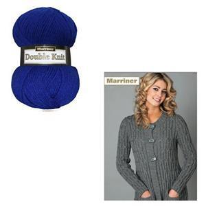 Marriner Navy Ladies Long Line Cardigan Kit