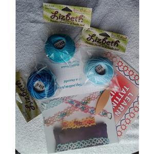 Tatting and Design Peacock Blues Beginners Kit