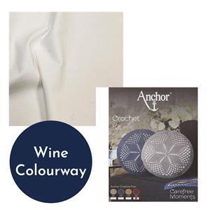 Carefree Moments Wine Crochet Cushion Kit Bundle