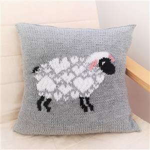iknit Designs Grey I Love Sheep Cushion Kit