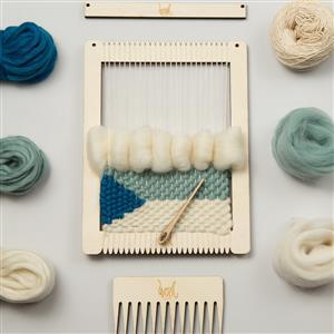 Wool Couture Ocean Small Rectangular Weaving Loom Kit