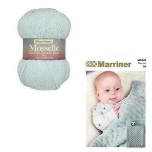 Marriner Cloud Blue Cob Nut Baby Blanket Kit