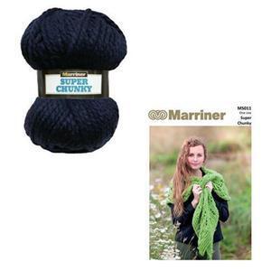 Marriner Navy Lacy Knit Shawl Kit