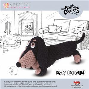 Knitty Critters Diggy Dachshund Kit