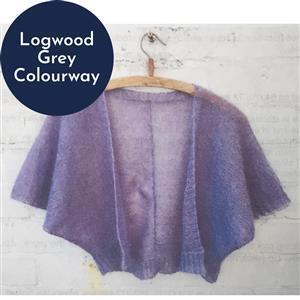 In The Wool Shed Logwood Grey Emily Bolero Kit