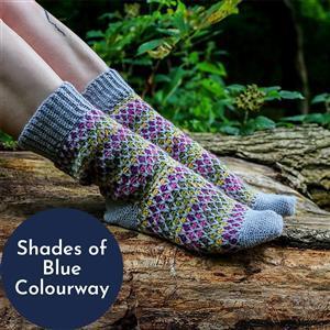 Anna Nikipirowicz Shades of Blue Latchmore Sock Kit