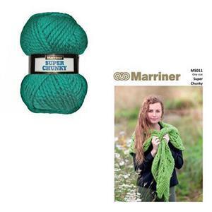 Marriner Sea Green Lacy Knit Shawl Kit