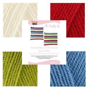 The Crafty Co Knitting Block One BOM Blanket Kit