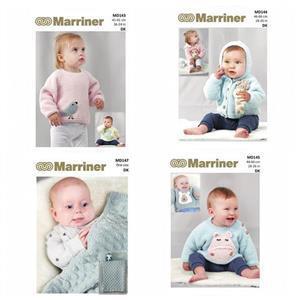Pack of 4 Baby Knitting Patterns: Marriner Mosselle DK