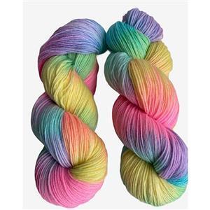 Twink Knits Rainbow Pastel 4 ply yarn 100g hank