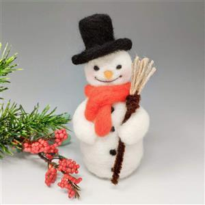 The Crafty Kit Company Festive Snowman Needle Felting Kit
